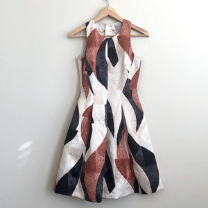 H&M Fit & Flare Zipper Back Dress